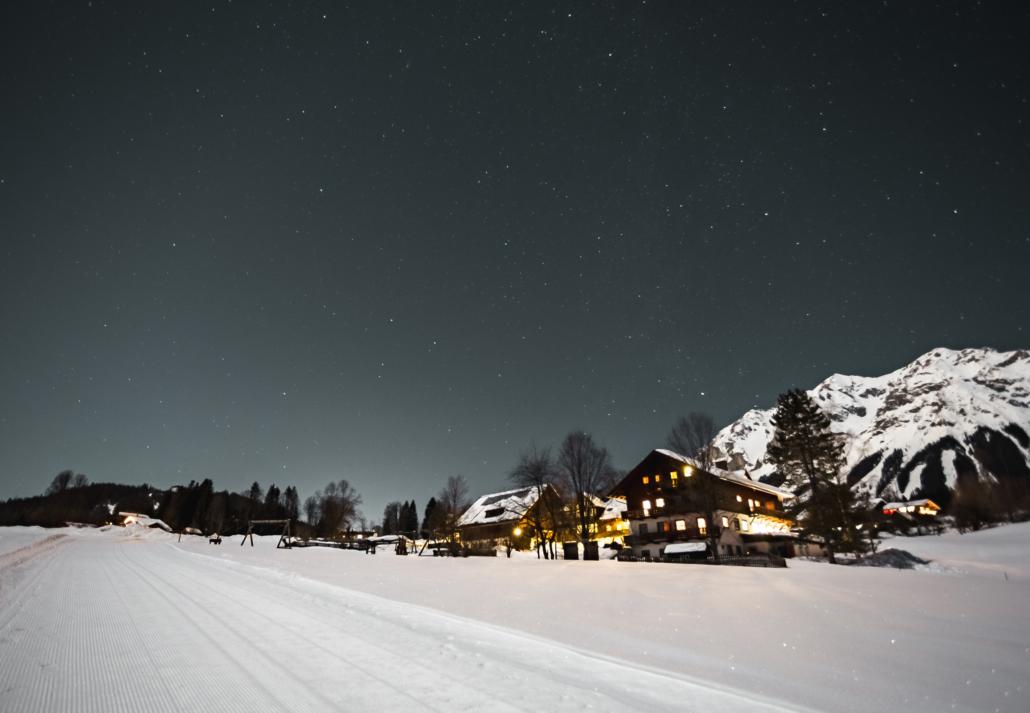 Winternacht am Bacherhof