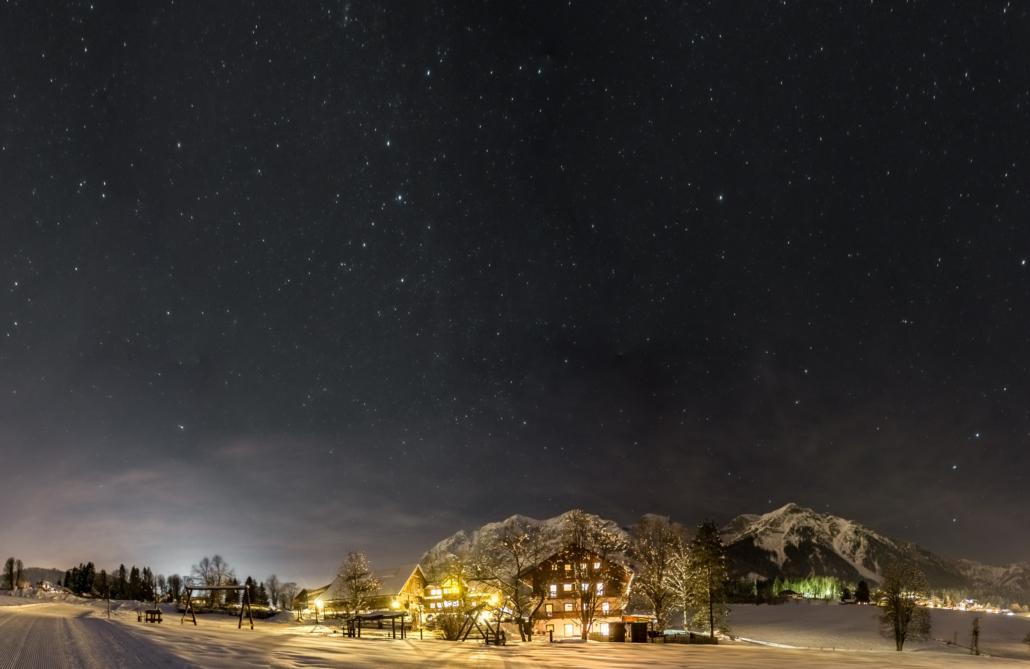 Winter Urlaub am Bio Bauernhof Bacherhof in Ramsau am Dachstein