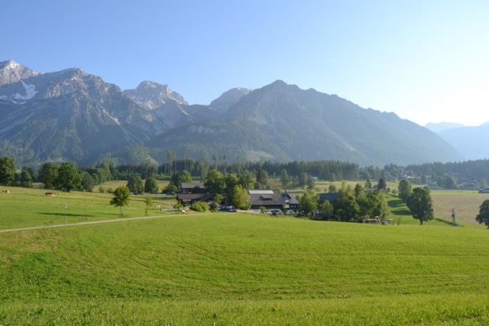 Urlaub am Bacherhof - einzigartige Lage, umgeben von satten grünen Wiesen