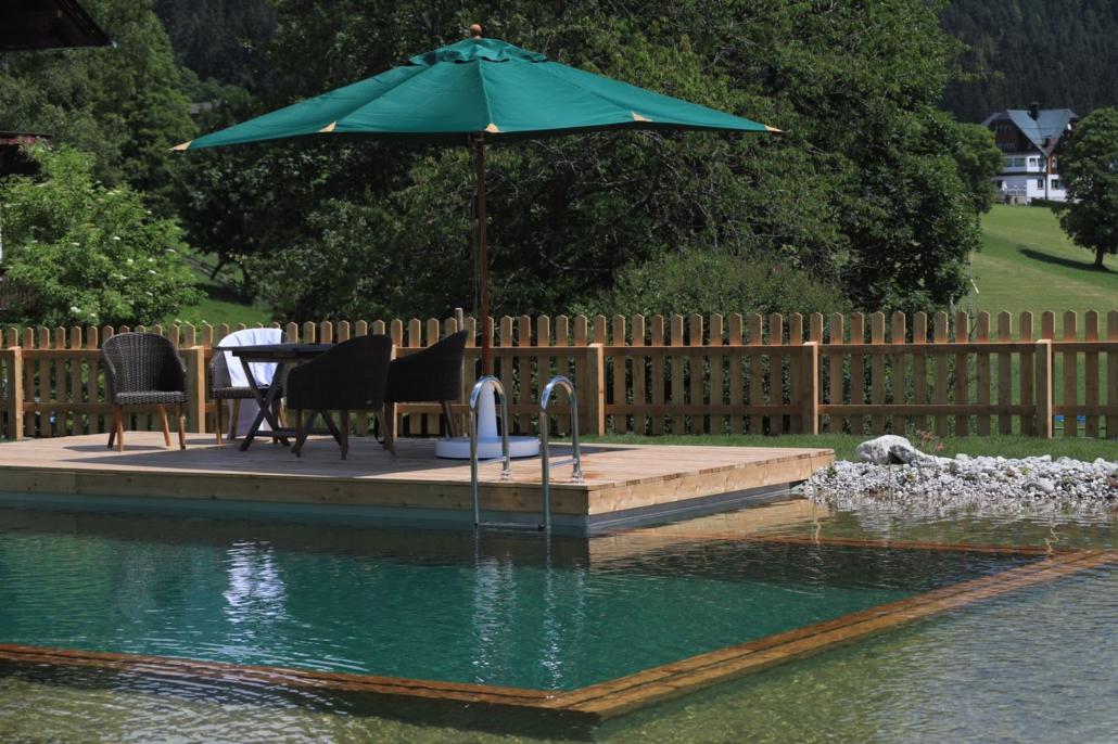 Naturschwimmteich mit Sonnendeck, Bacherhof Ramsau am Dachstein