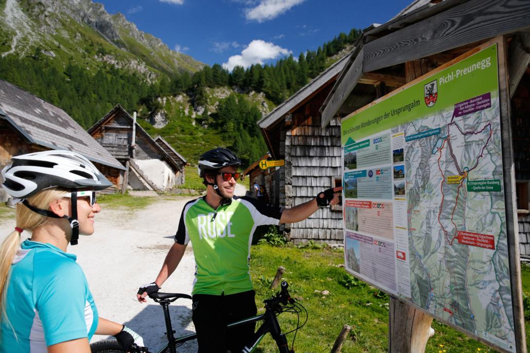 zahlreiche ausgeschilderte E-Bike & Mountainbike Touren in Ramsau am Dachstein