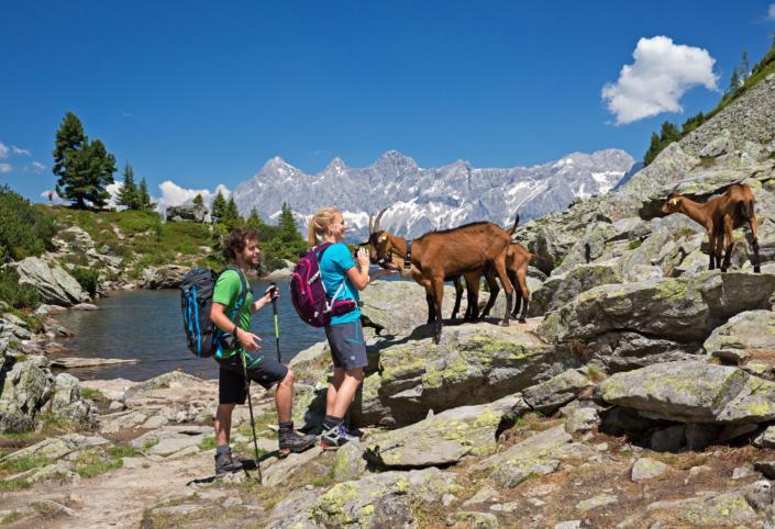 Wanderung zum Spiegelsee mit Dachsteinblick