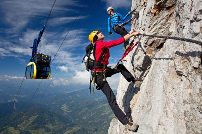 Sky Walk Klettersteig, 17 weitere Routen in Ramsau am Dachstein