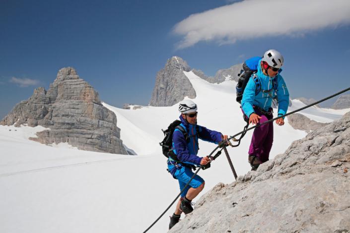 Wiege der Klettersteige am Dachstein