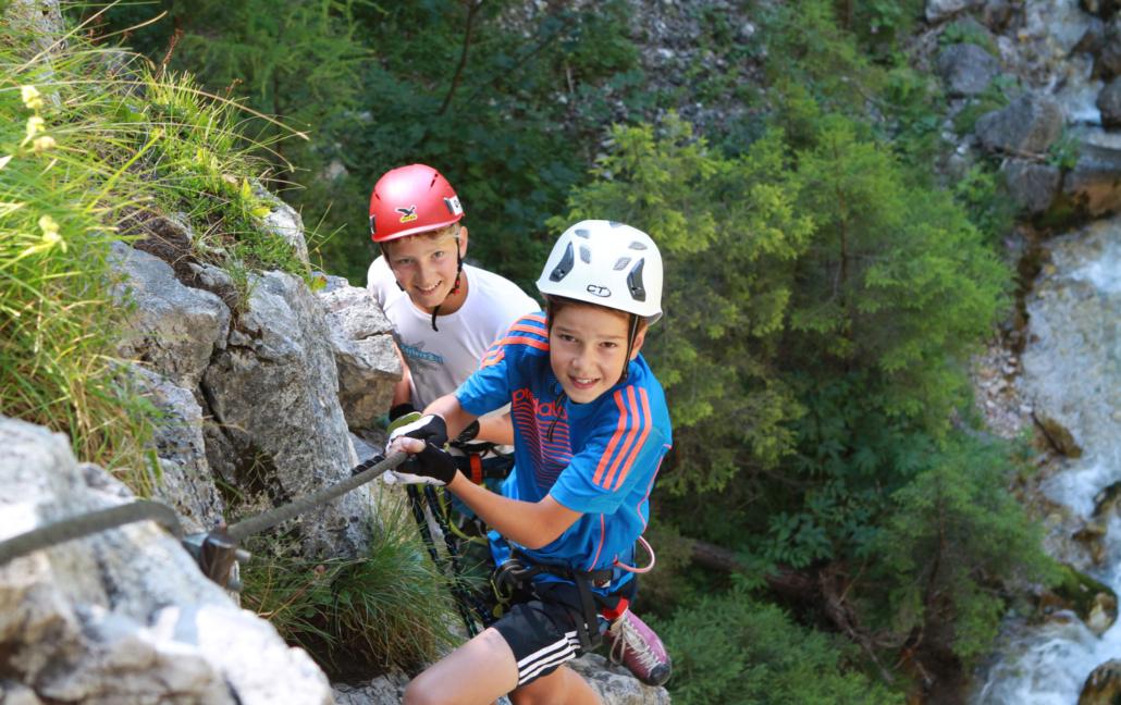 Urlaubsangebot Kinderklettern am Sattelberg in Ramsau am Dachstein