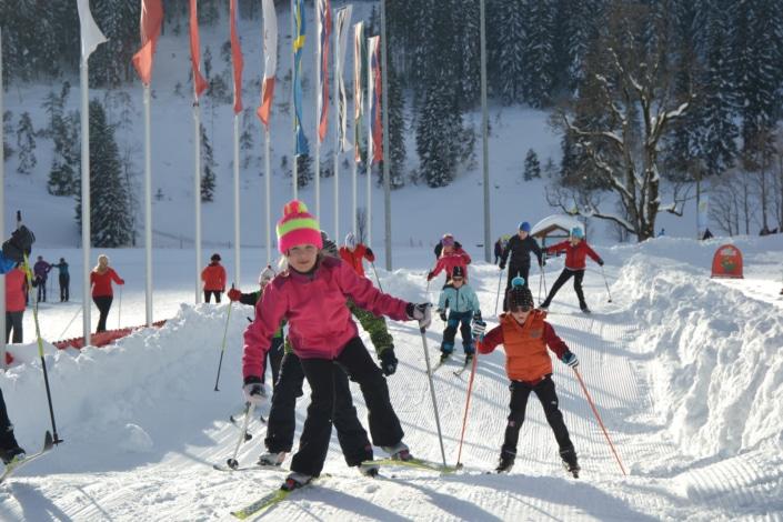 Kinderlanglaufpark im WM Stadion Ramsau am Dachstein