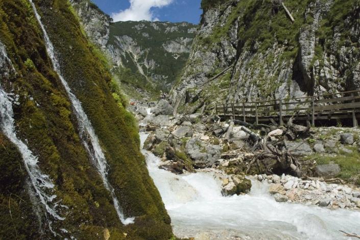 Wildes Wasser und Erlebnis Natur in der Silberkarklamm