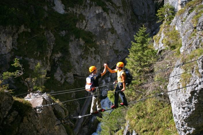 Zustieg Klettersteig Hias in der Silberkarklamm