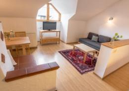 Grüne Erde Apartment mit Kitchenette und Kachelofen, Bacherhof