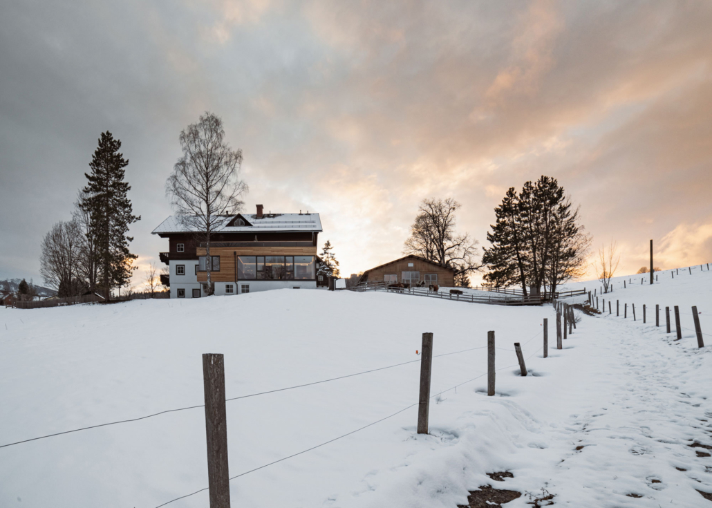 Bacherhof Ramsau am Dachstein mit Wolkenstimmung